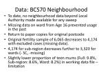 data bcs70 neighbourhood