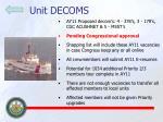 unit decoms