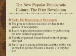 the new popular democratic culture the print revolution