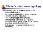 gibbon s role career typology