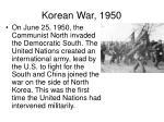 korean war 1950