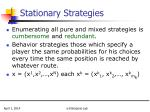 stationary strategies