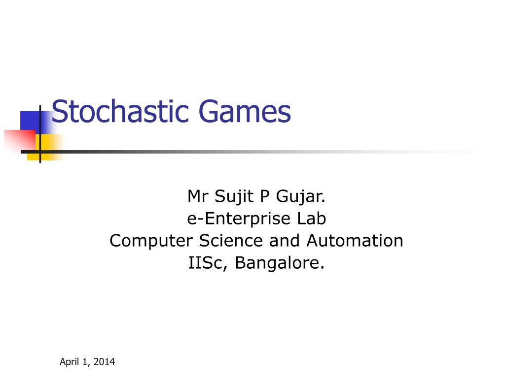 stochastic games l.