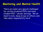 mentoring and mental health
