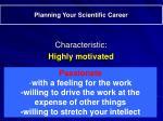 planning your scientific career