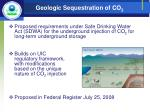 geologic sequestration of co 2