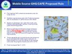 mobile source ghg cafe proposed rule