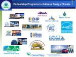 partnership programs to address energy climate