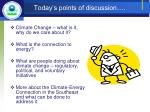 today s points of discussion