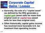 corporate capital gains losses