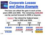 corporate losses and gains example30
