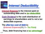 interest deductibility
