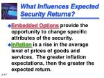 what influences expected security returns47