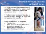 improvements of interest to beneficiaries