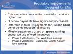 regulatory improvements designed for ens