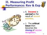 ii measuring profit performance rev exp