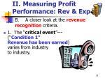 ii measuring profit performance rev exp25