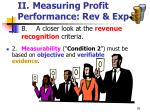 ii measuring profit performance rev exp26
