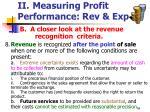 ii measuring profit performance rev exp34