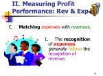 ii measuring profit performance rev exp35