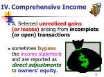 iv comprehensive income