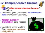 iv comprehensive income74