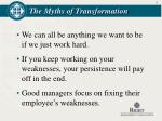 the myths of transformation