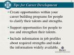 tips for career development