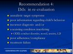 recommendation 4 ddx in re evaluation
