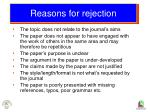 reasons for rejection24