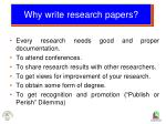 why write research papers