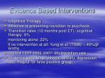 evidence based interventions7