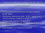 identification young people at risk of psychosis