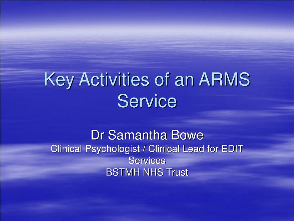 key activities of an arms service l.