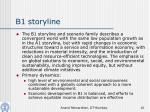 b1 storyline