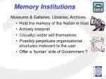 memory institutions