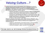 valuing culture