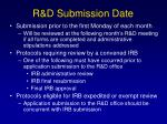 r d submission date