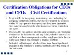 certification obligations for ceos and cfos civil certifications27