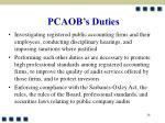 pcaob s duties24