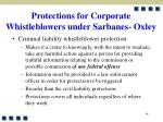 protections for corporate whistleblowers under sarbanes oxley34