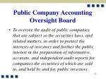 public company accounting oversight board