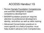 access handout 1g
