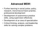 advanced msw