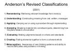 anderson s revised classifications 2001