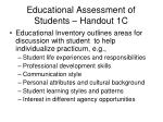 educational assessment of students handout 1c