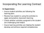 incorporating the learning contract