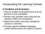 incorporating the learning contract23