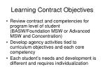 learning contract objectives