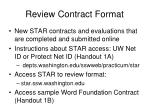 review contract format
